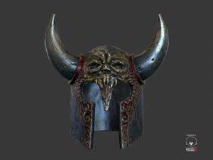 3d helmet games model