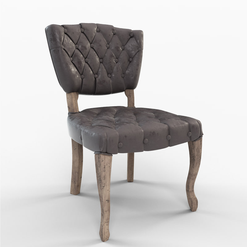3d model yates tufted chair
