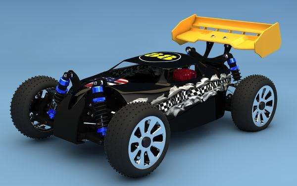 3d model rc nitro buggy