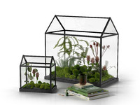 3d max mini glass greenhouse stack