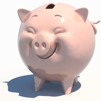 cartoon piggy bank 3d max
