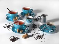 composition tea coffee macarons max