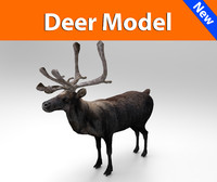 deer low poly game ready