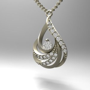 stl necklace gold 3d model