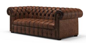 chester chesterfield sofa 3d model