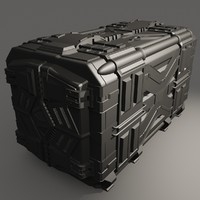 3d sci-fi container