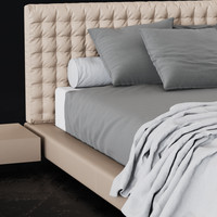 bed cinova valencia 3d model