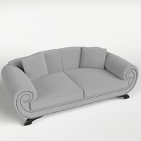 3d couch sofa 1 pillows model
