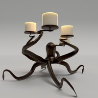 octopus candle holder 3d model