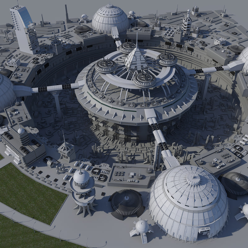 block science fiction city max