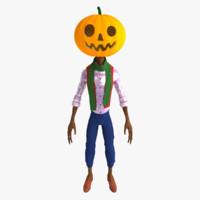 3d max jack pumpkinhead pumpkin