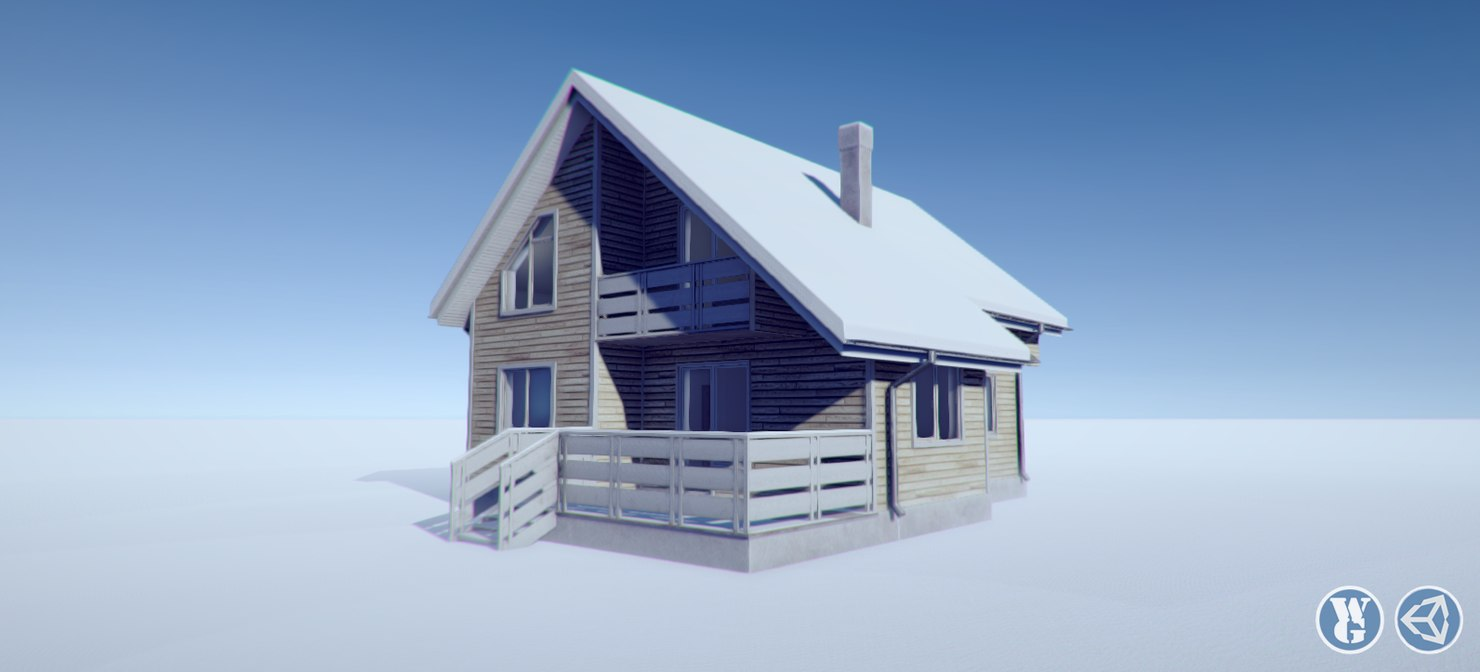 cottage interior house 3ds