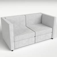 3d model of couch sofa 2