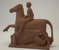 Horse sphinx statue