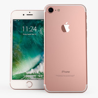iphone 7 rosegold mobile phone 3d model