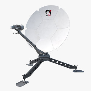 3d satellite dish model