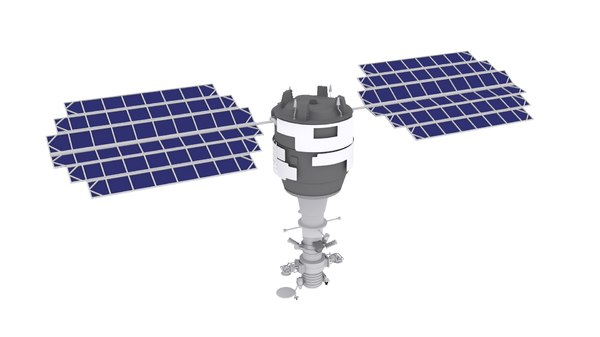 sputnik resurs-k 3d model