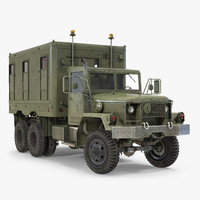 m109 shop van rigged 3d model