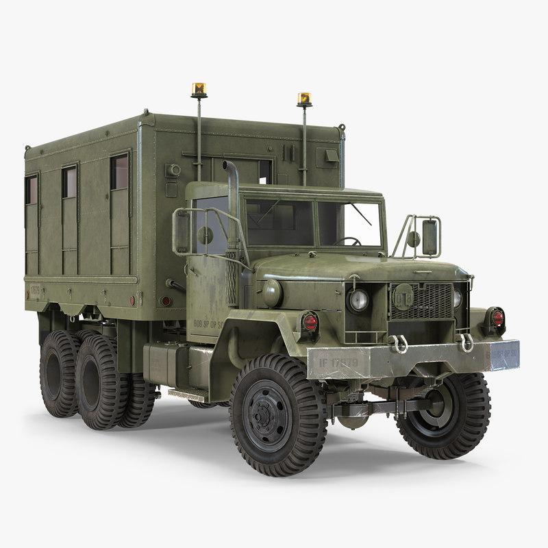 m109 shop van rigged 3d model
