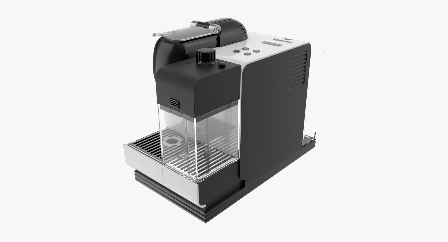 3d nespresso lattissima model