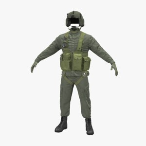 3d max helicopter pilot uniform
