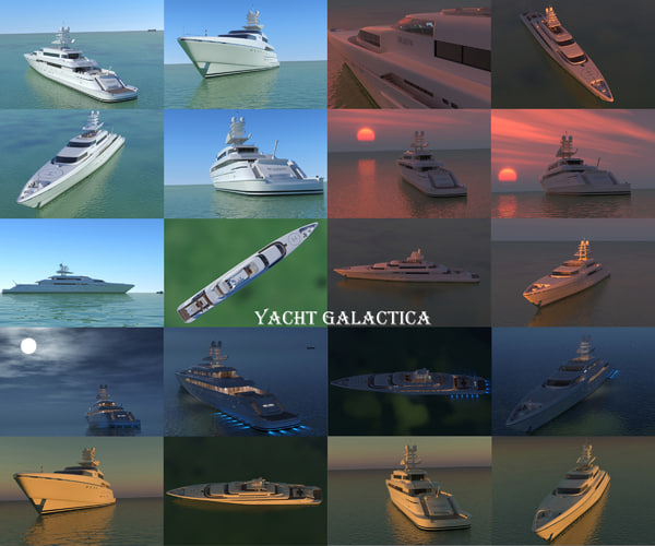 3d super yacht