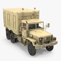 M109 Shop Van Desert 3D Model