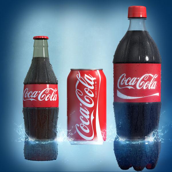 plastic coke bottle 3d obj