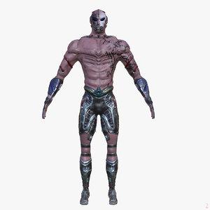 3d warrior metalness character