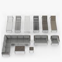 3d aluminium outdor - armchair