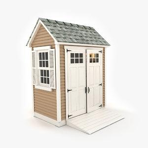 garden shed 03 3d model
