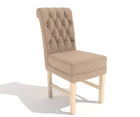 3d model soft chair arthur