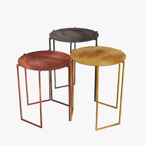 3d tribu coffee tables michela model