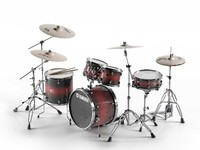 acoustic drum sets 3d max