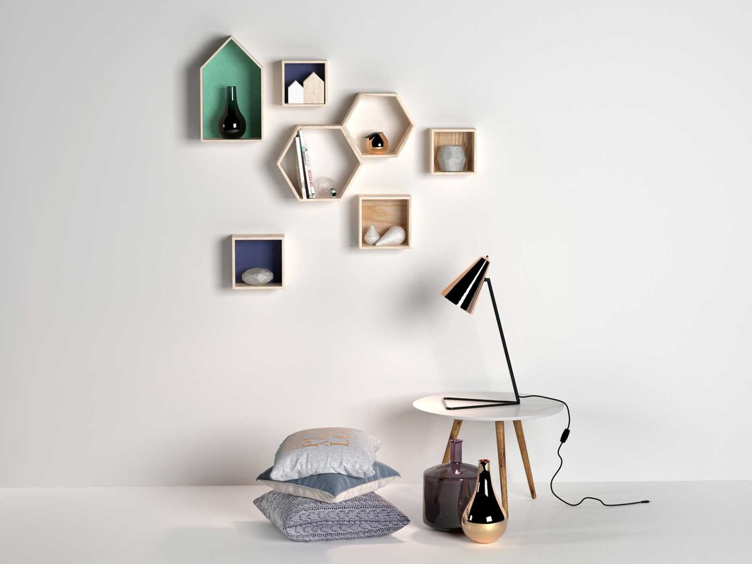 3d max composition decor pillows lamp