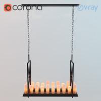 3d model chandelier commodore eichholtz