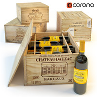 wine boxes 3d max