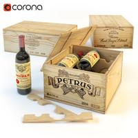 wine boxes 3d model