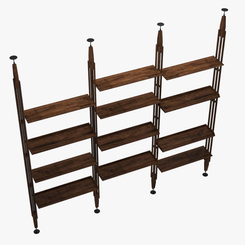 bookshelf 01 3d max