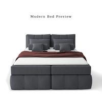 modern bed 3d max