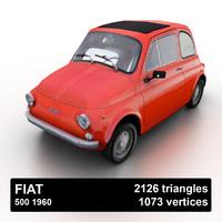 3d model 1975 fiat 500