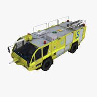 rosenbauer 4x4 truck 3d max