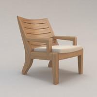 ile chair outdoor christian 3d model