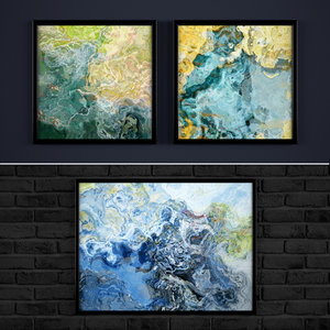 3d model contemporary paintings abstraction