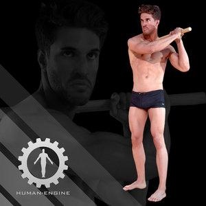 3d male scan - mick model