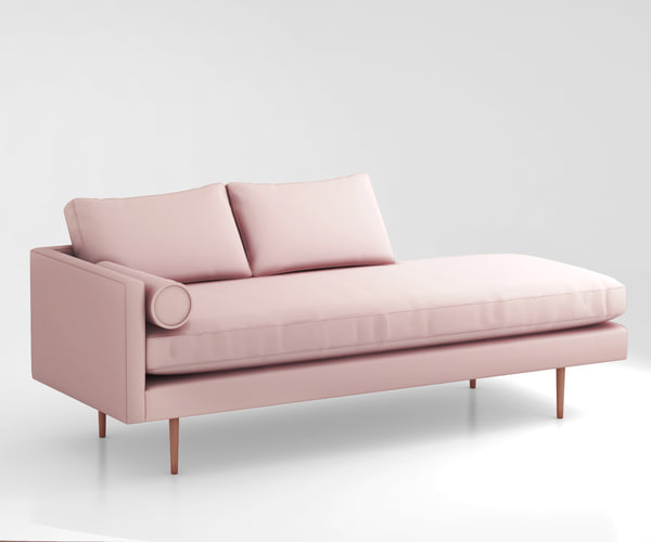 monroe mid-century chaise 3d model