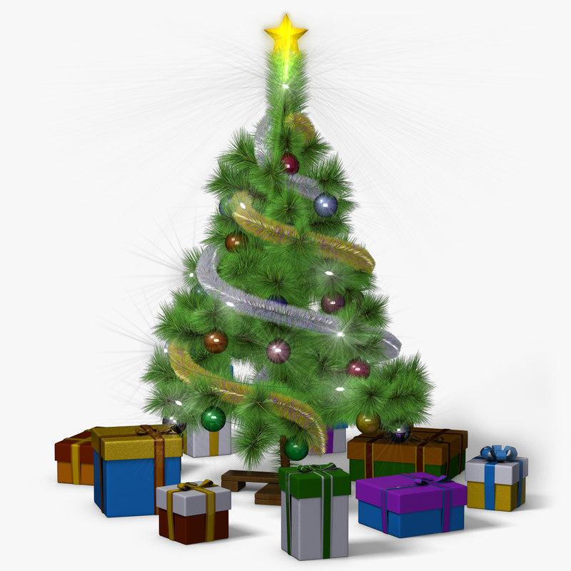 max mini christmas tree animation