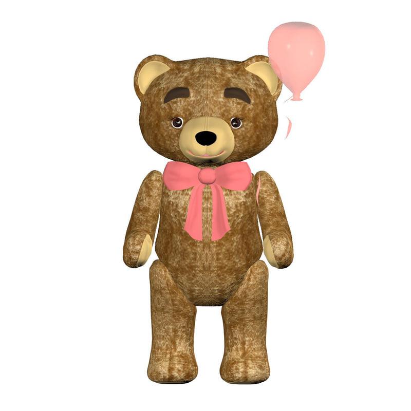 3d teddy-bear character model