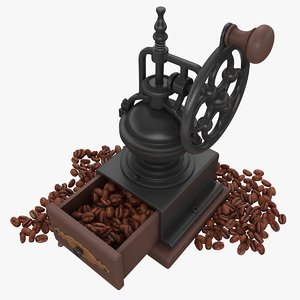 3d coffee beans model