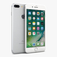3d apple iphone 7 silver model